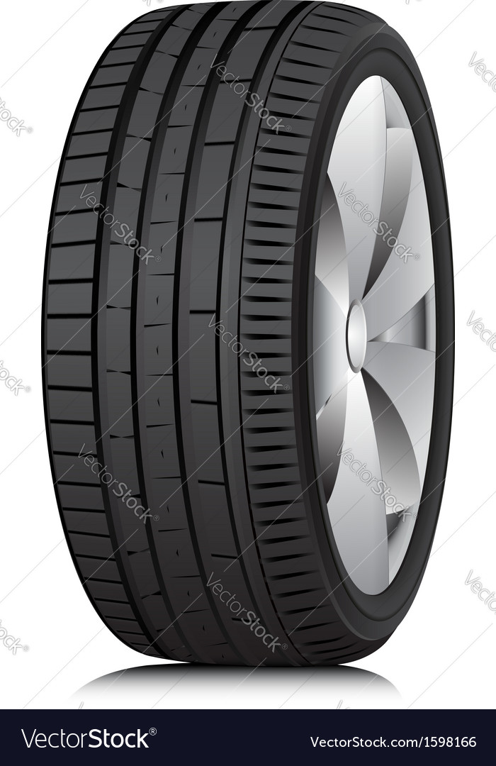 Tyre Wheel vector image