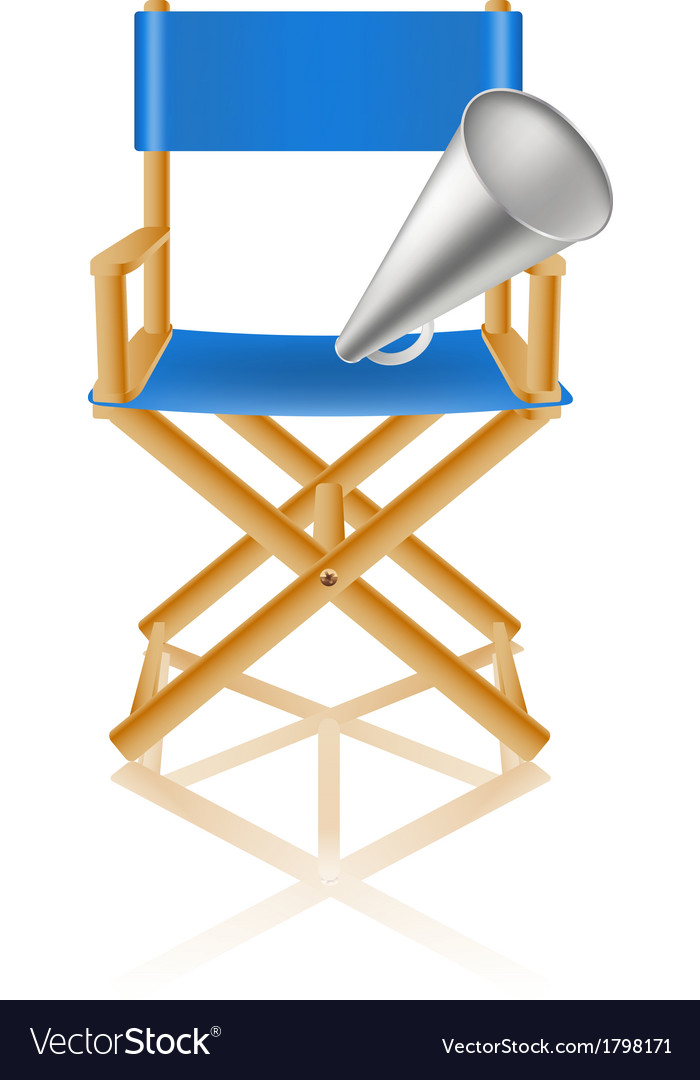 Director chair and loudspeaker vector image
