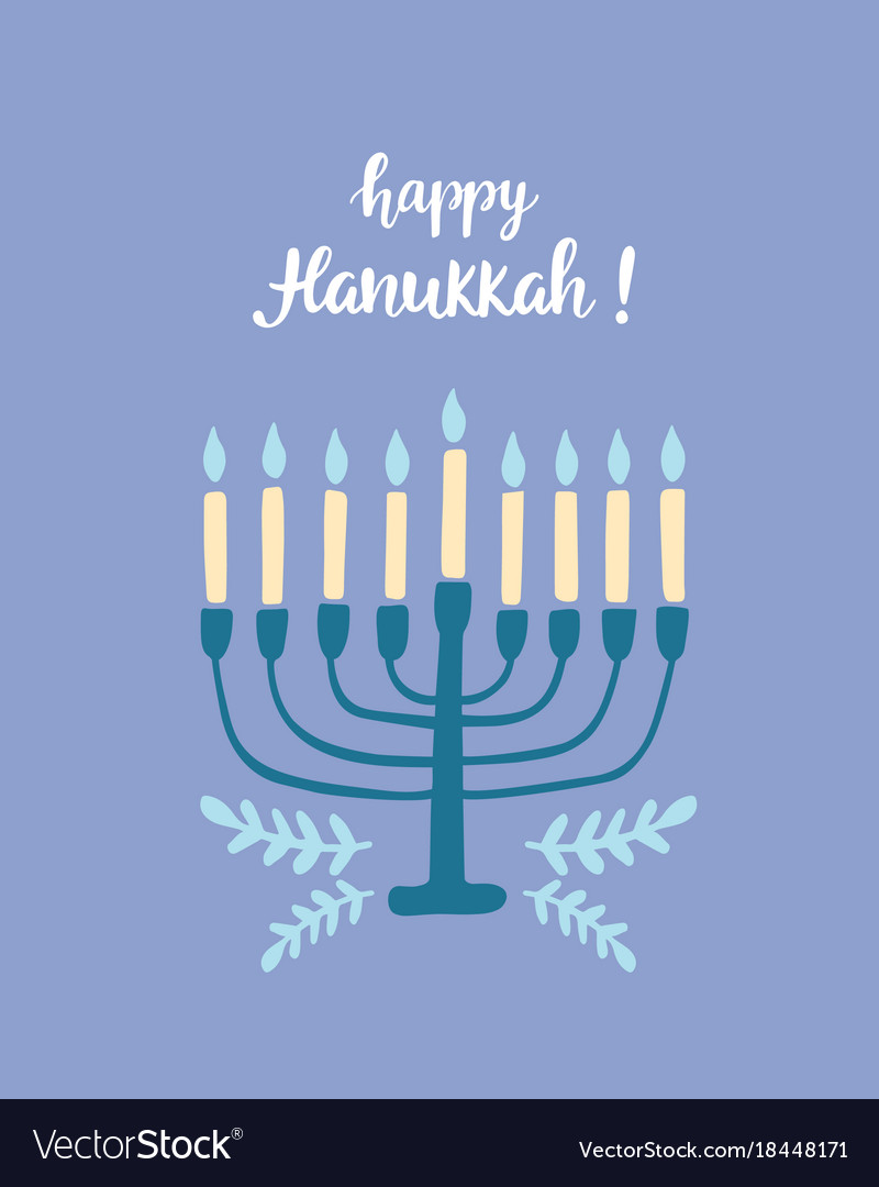 Happy hanukkah greeting card royalty free vector image happy hanukkah greeting card vector image m4hsunfo