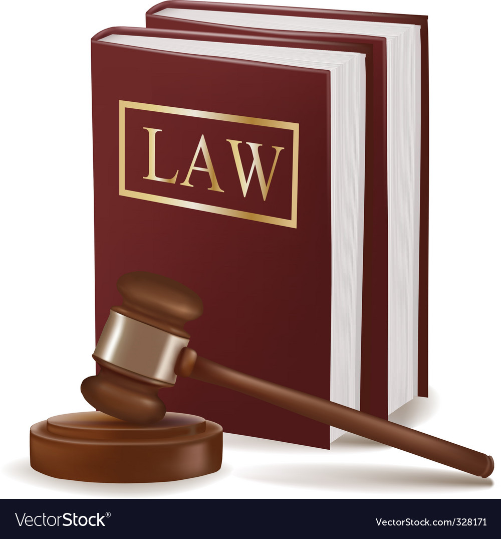 Judge gavel and law books