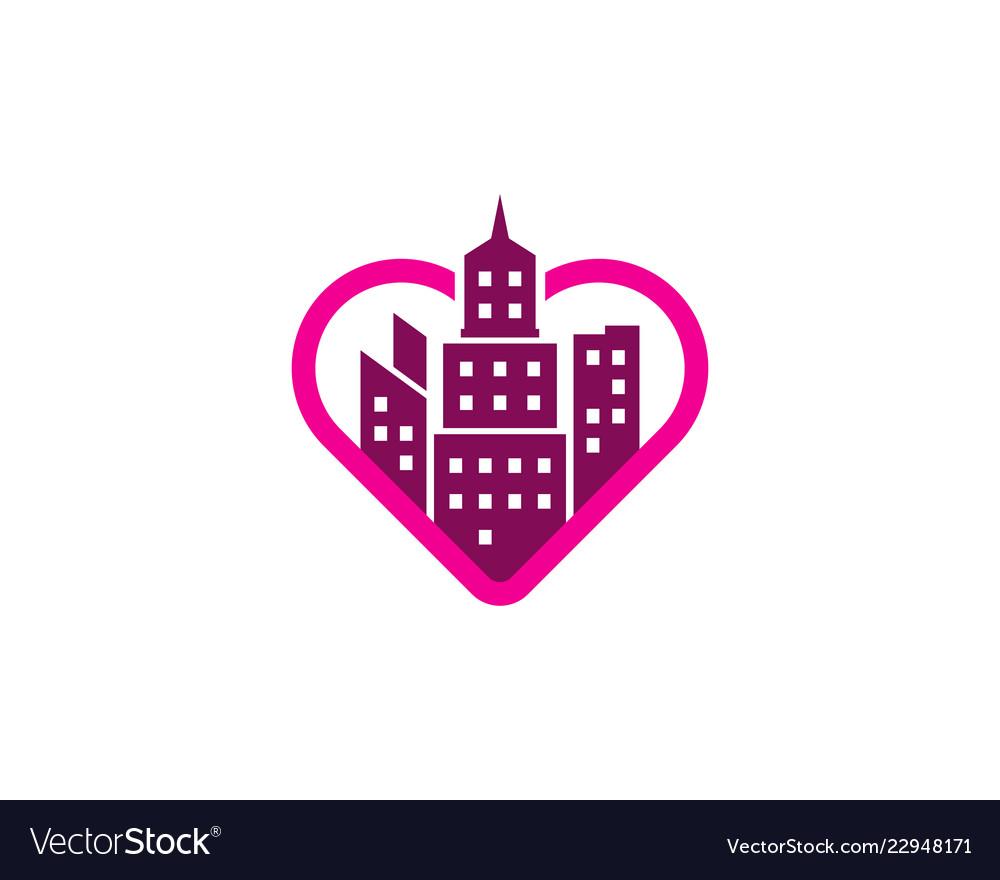 Romance town logo icon design