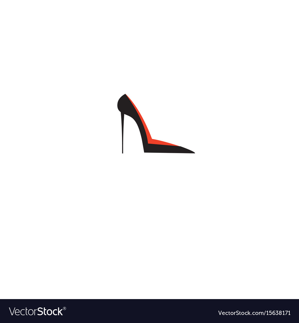 Shoe female sign isolated vector image