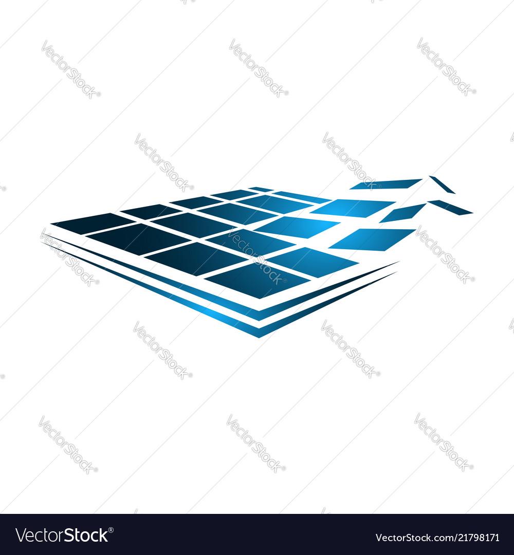 Solar logo concept solar energy template solar