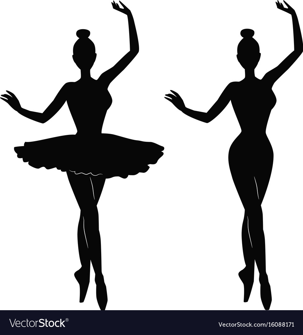 Woman Ballet Dancer Silhouette Royalty Free Vector Image