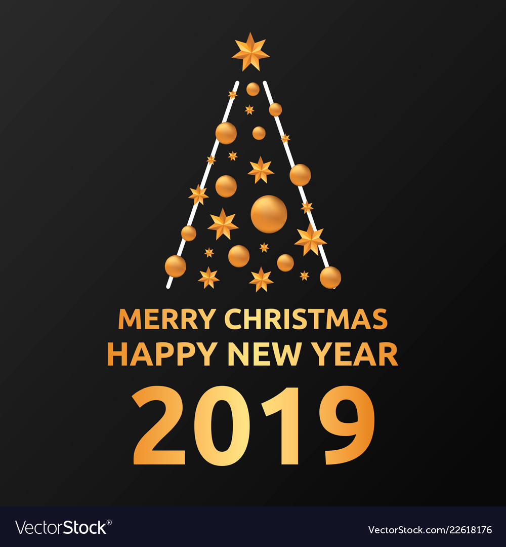Merry Christmas 2019.2019 Merry Christmas And Happy New Year Post Card