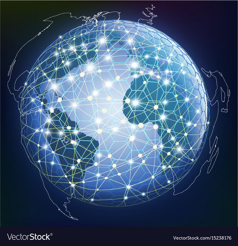 Abstract global digital communication