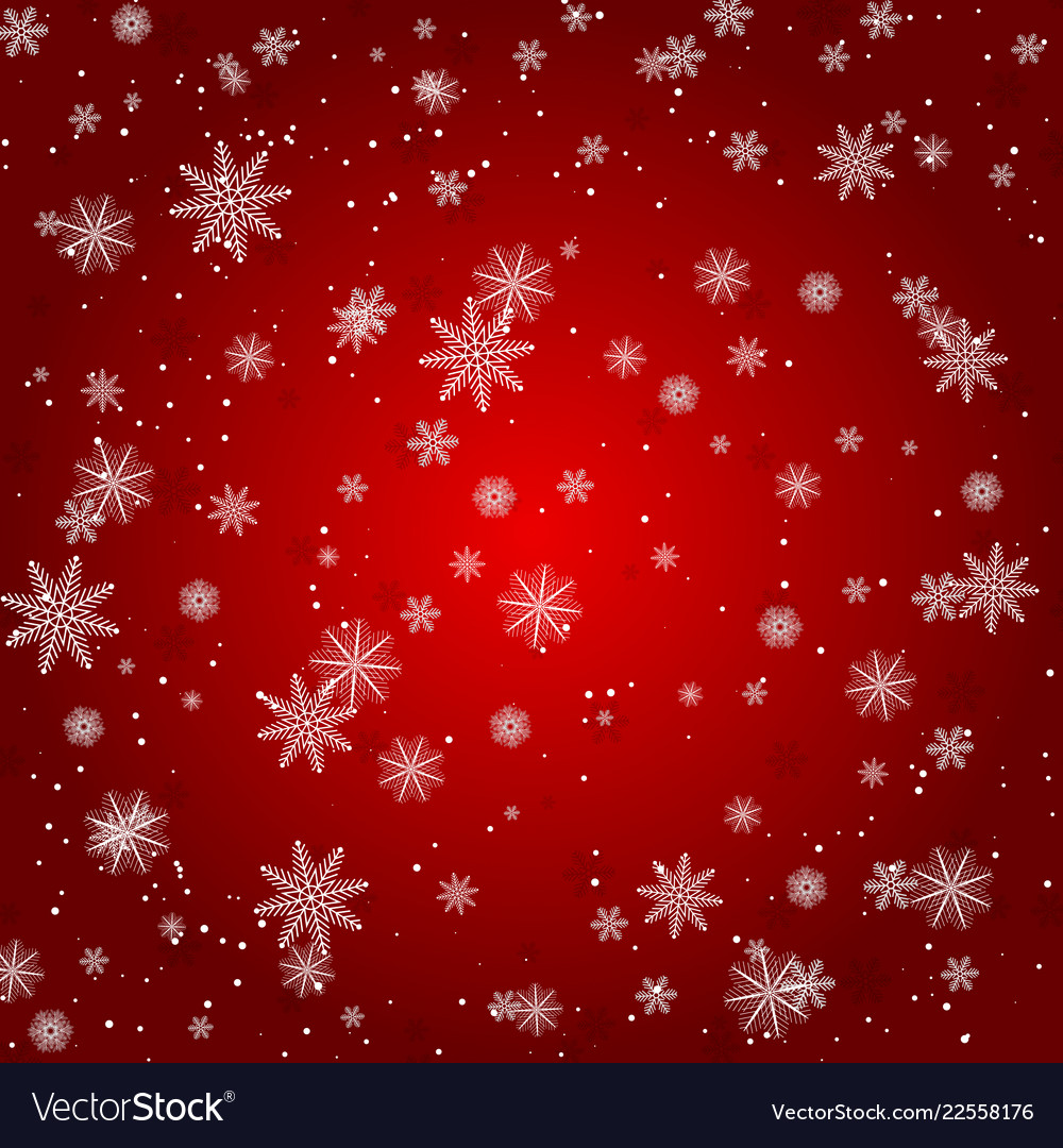 Christmas snowflake with night star light and snow
