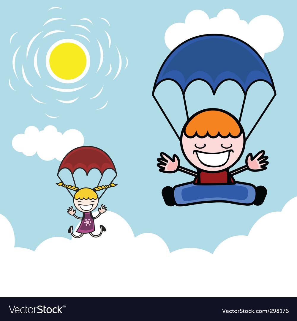 Воздушный шар, картинка парашютист для детского сада