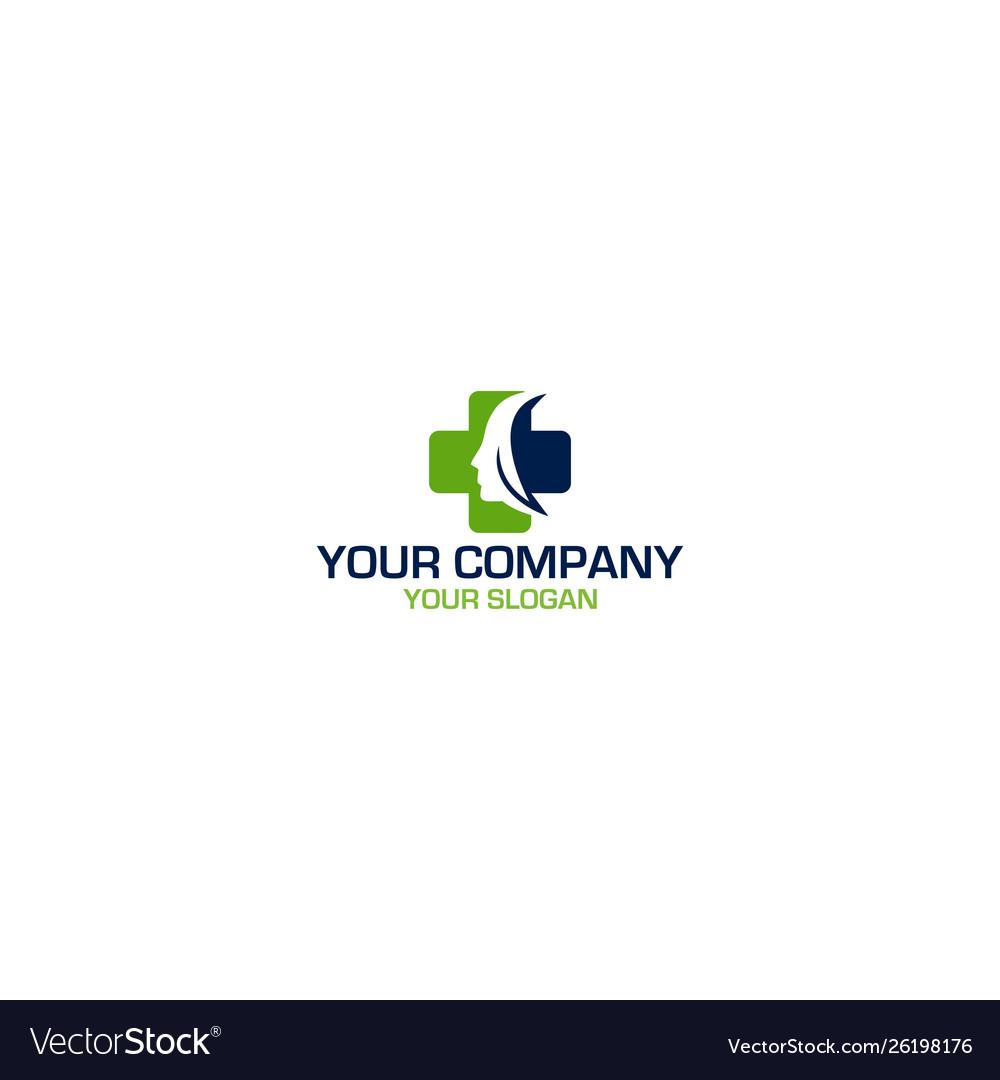 Medical Plastic Surgery Logo Design Royalty Free Vector