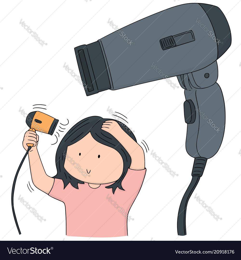 Set of hair dryer