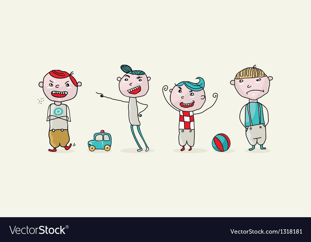 Bad Kids Set vector image