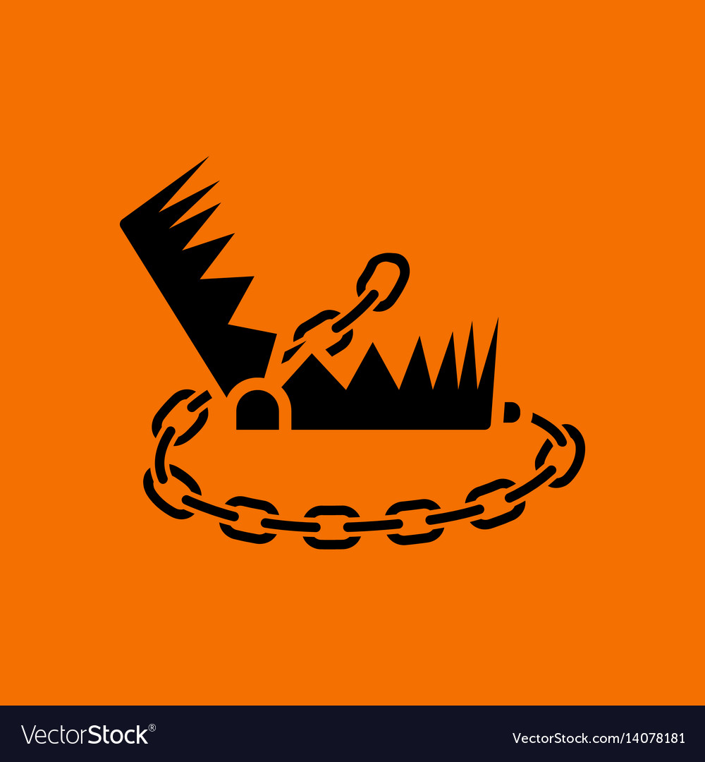 Bear hunting trap icon vector image
