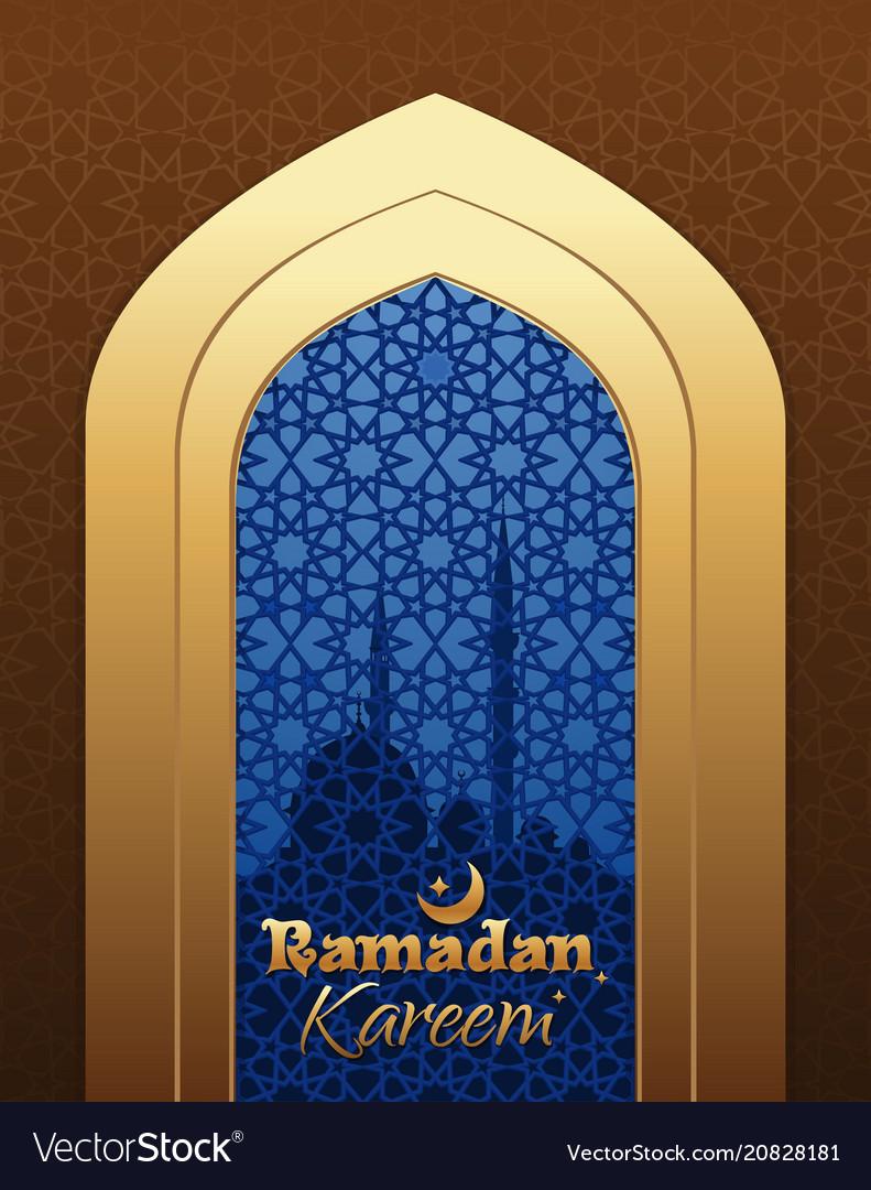 Beautiful greeting card for holy month ramadan