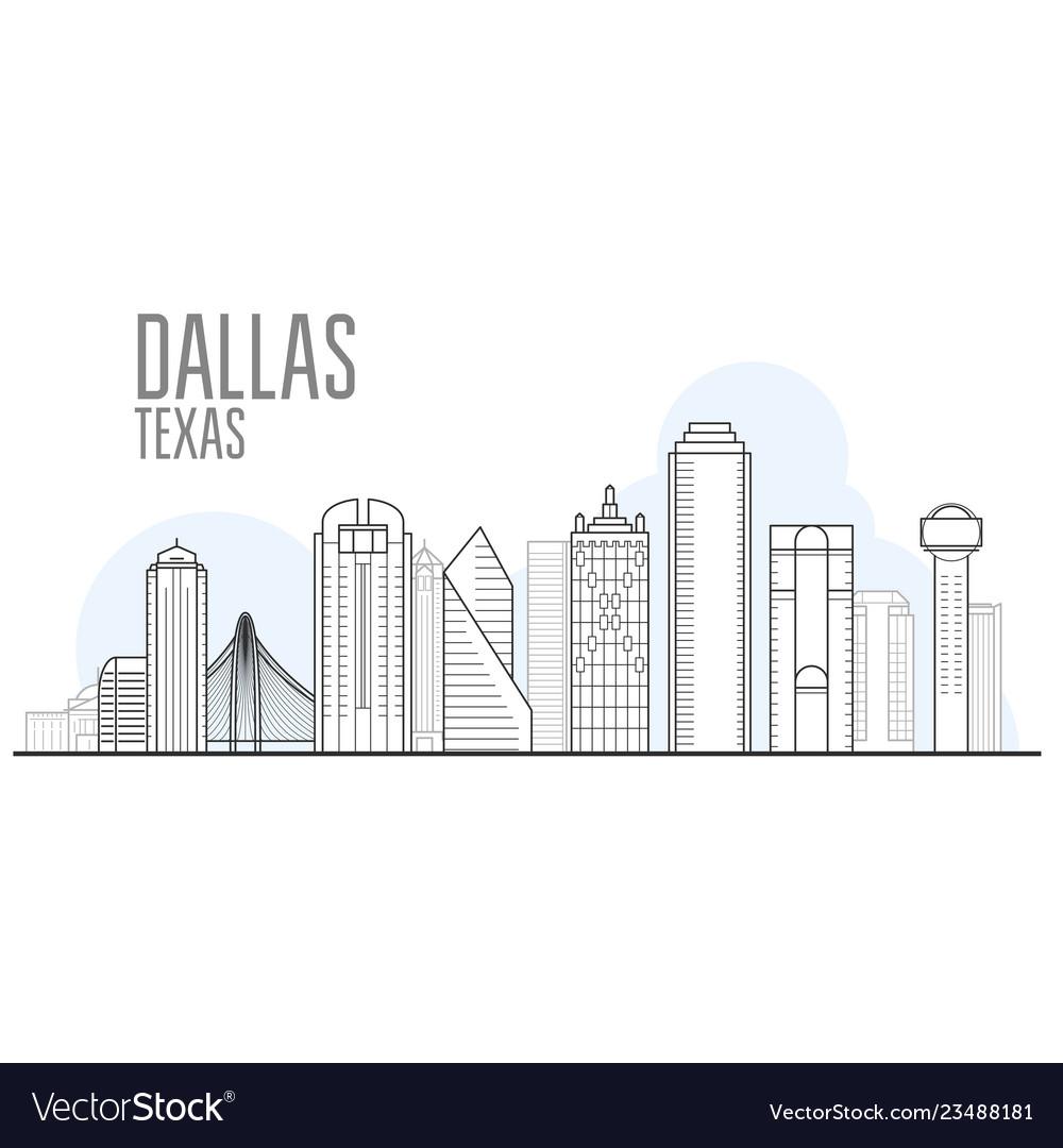 Dallas city skyline - cityscape dallas texas