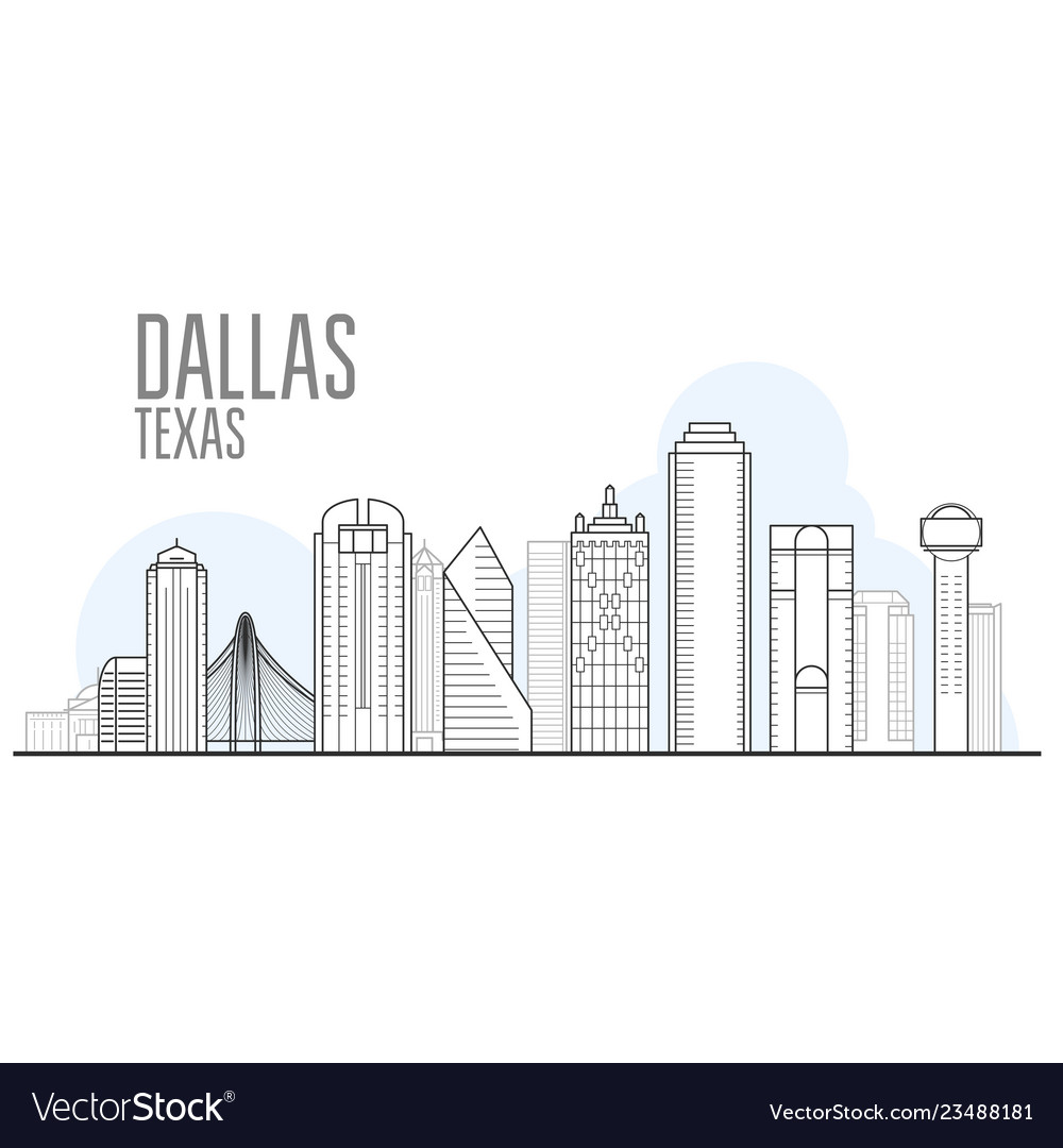 Dallas city skyline - cityscape of dallas texas
