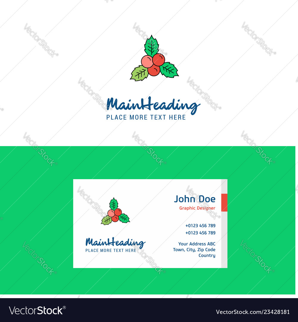 Flat socks logo and visiting card template
