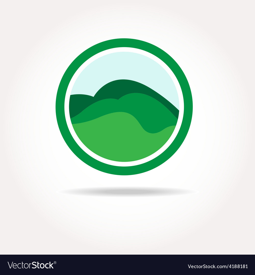 Green healthy nature agricultural logo