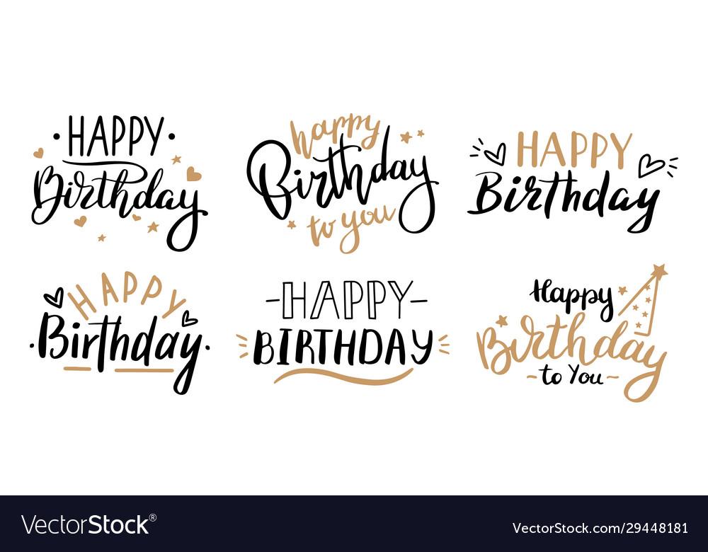 Happy birthday celebration concept greeting