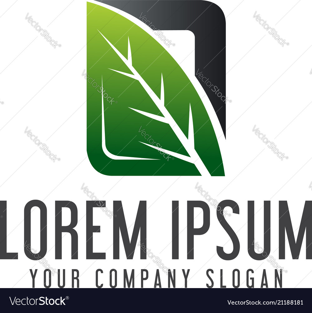 Natural leaf logo garden landscaping logo design