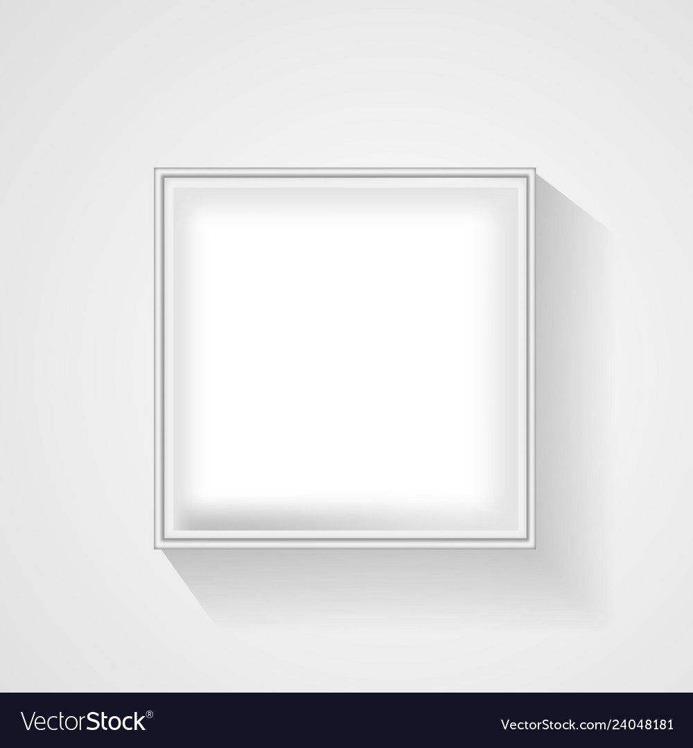 Open white empty gift box on light background top