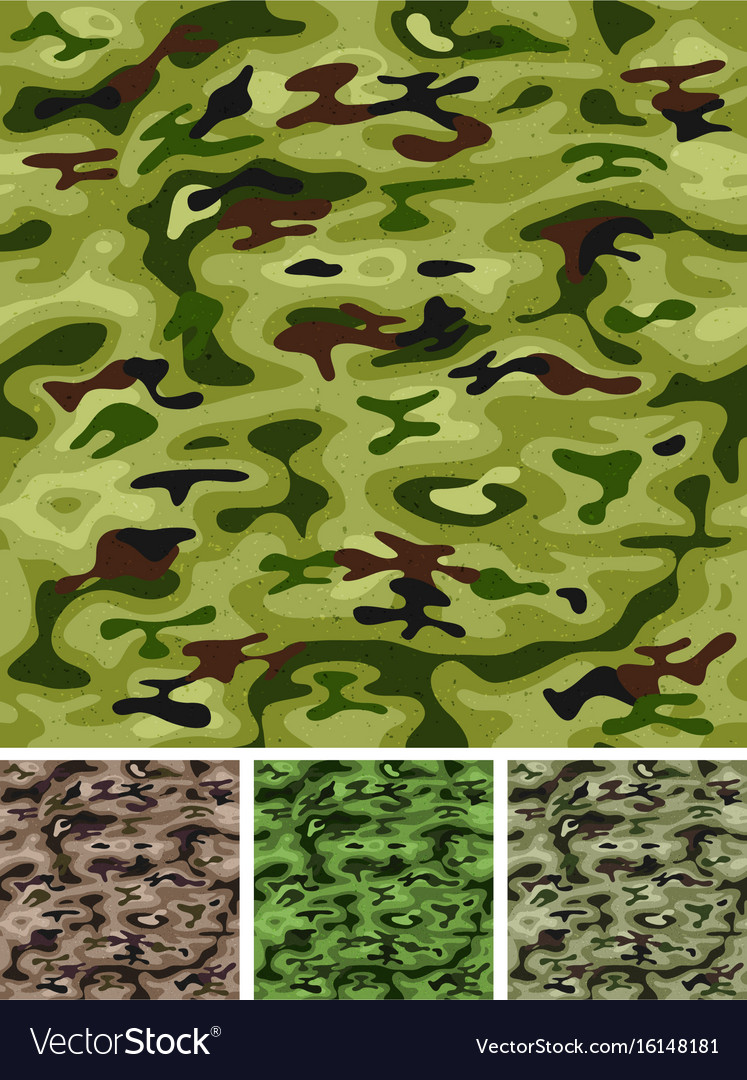 Seamless military and hunting camo vector image