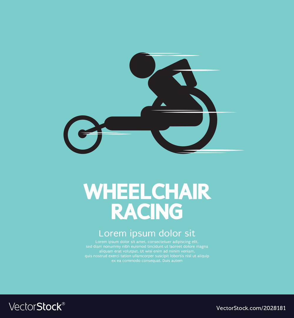 Wheelchair Racing vector image