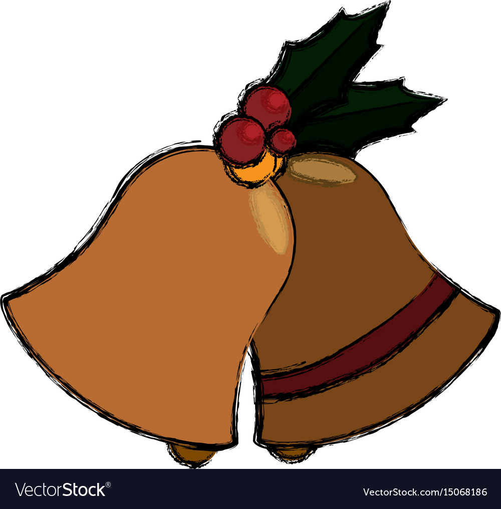 Christmas decorative bells vector image
