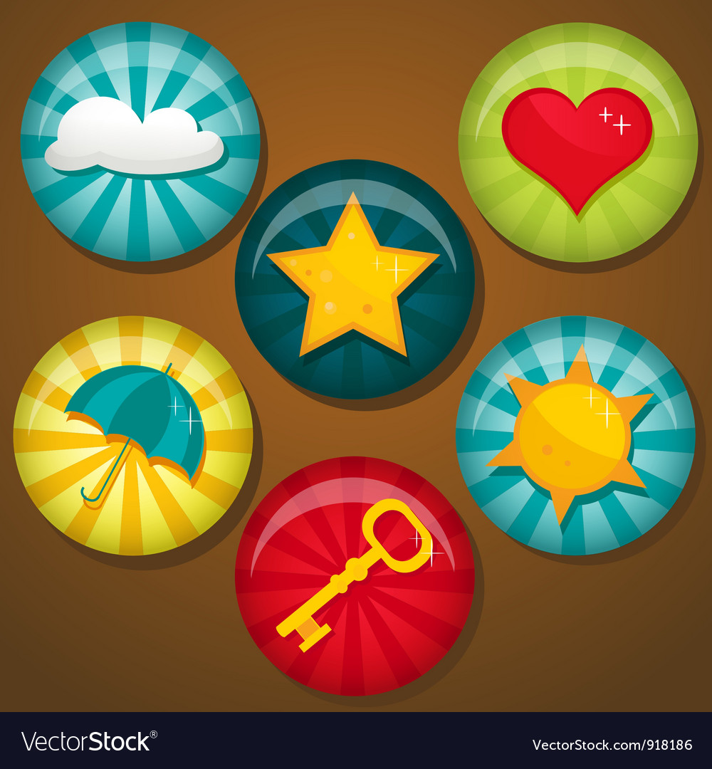 Cute badges vector image