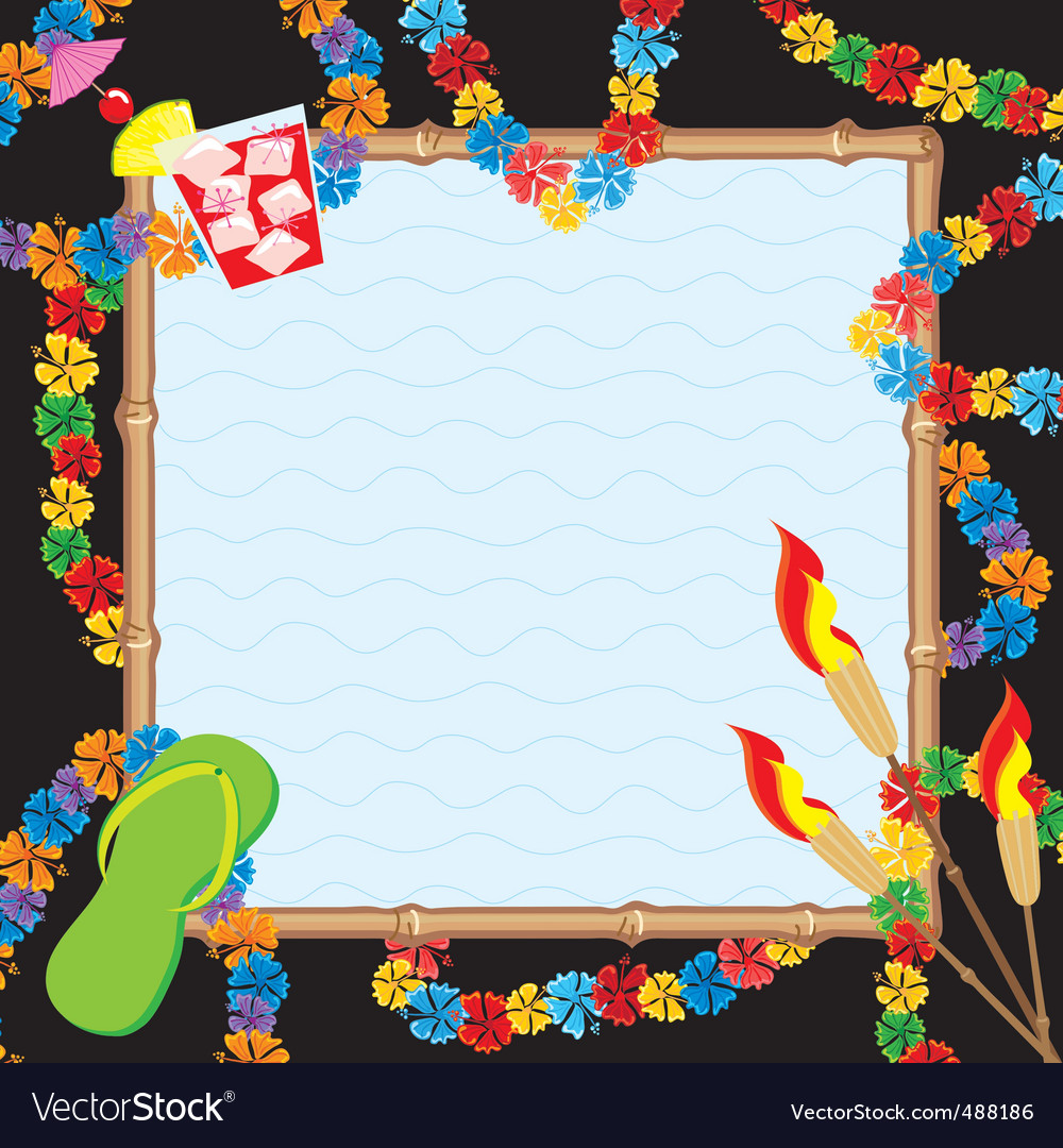 Hawaiian pool party royalty free vector image vectorstock hawaiian pool party vector image stopboris Gallery