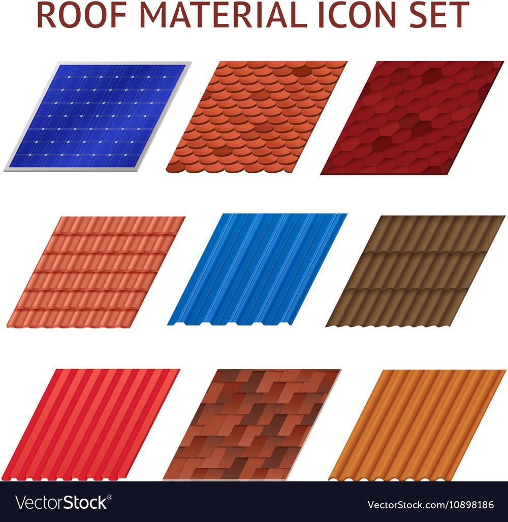 House Roof Tile Images Set