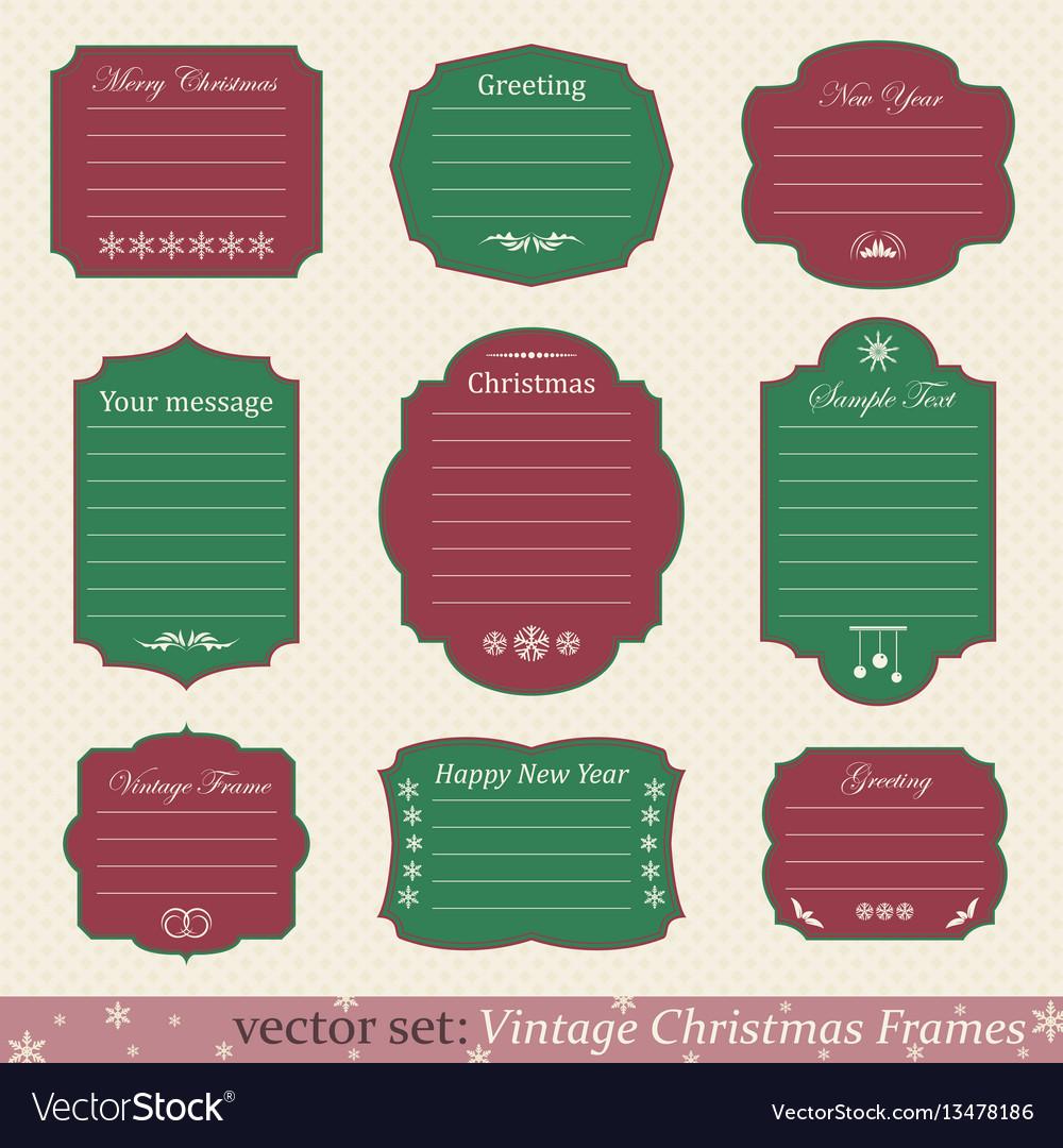 Set of vintage christmas frames