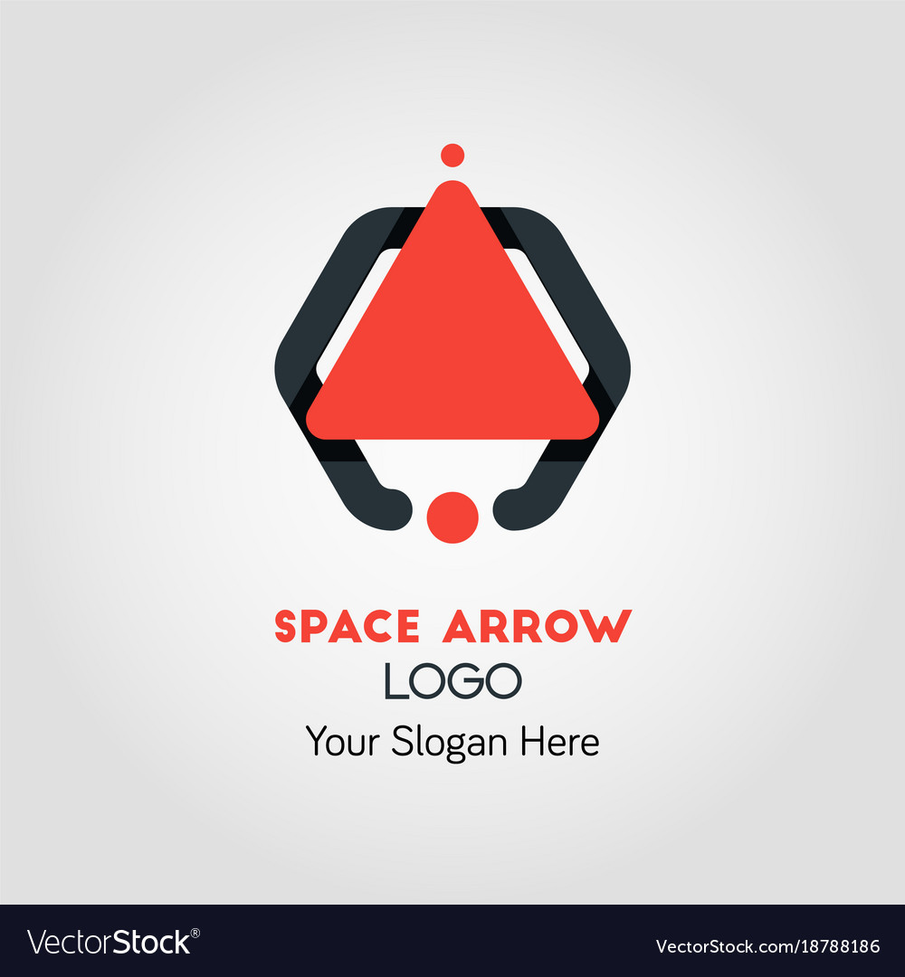 Spaceship-like upside arrow logo template vector image