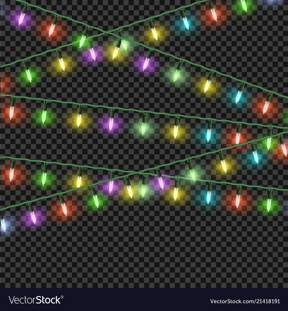 Colorful christmas lights effectsgarlands