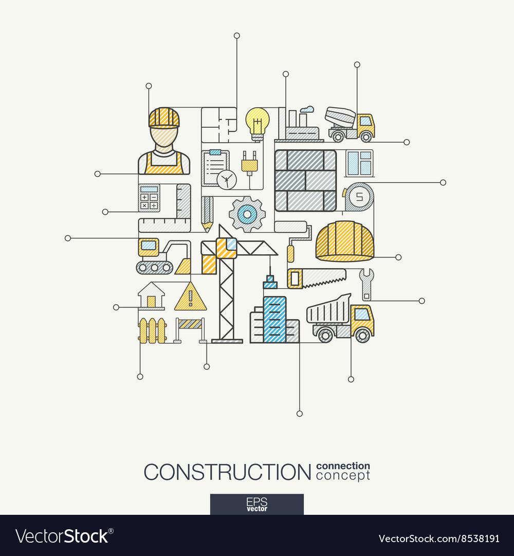Construction integrated thin line symbols Modern