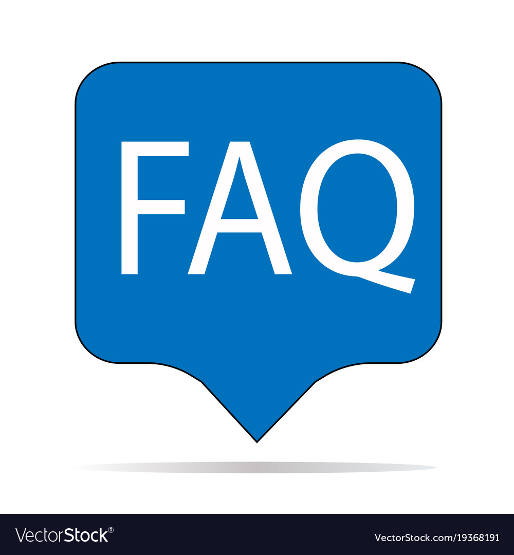 Faq: Faq Icon On White Background Faq Sign Flat Vector Image