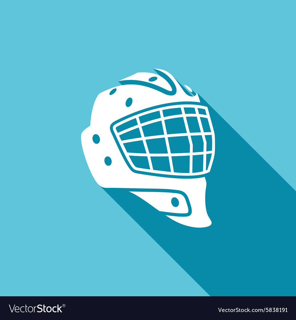 Goaltender Helmet Hockey Icon Royalty Free Vector Image