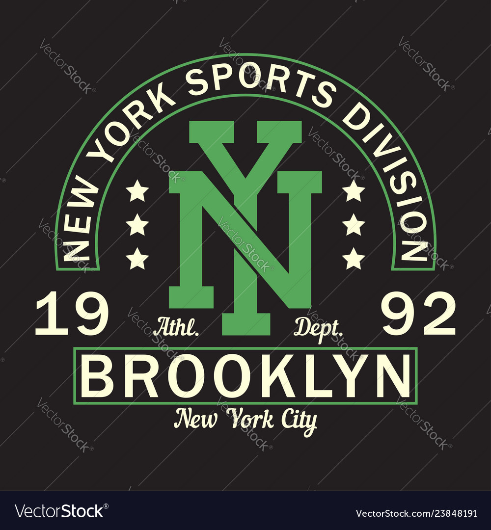 New york brooklyn - graphic design for t-shirt