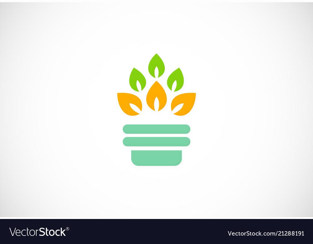 Organic colored leaf logo