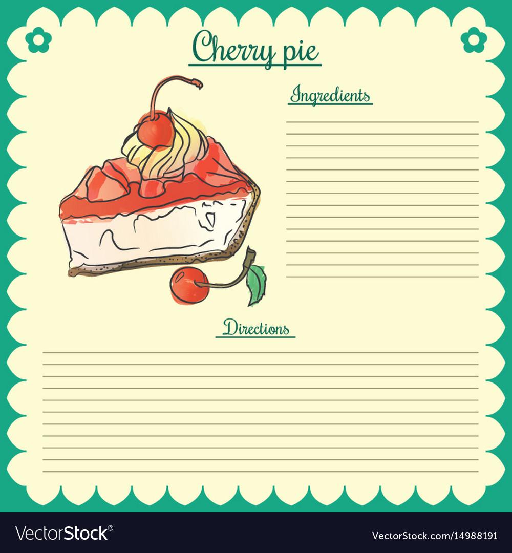 Recipe cherry pie