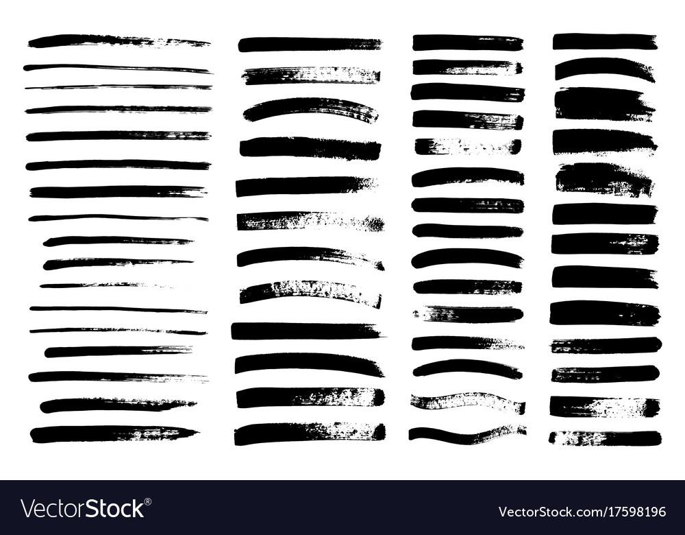 Black paint ink brush stroke brush line