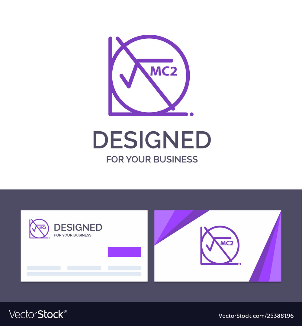 Creative business card and logo template math