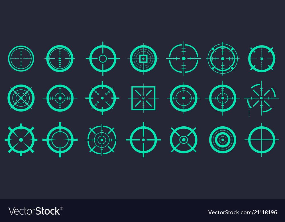 Creative of crosshairs icon