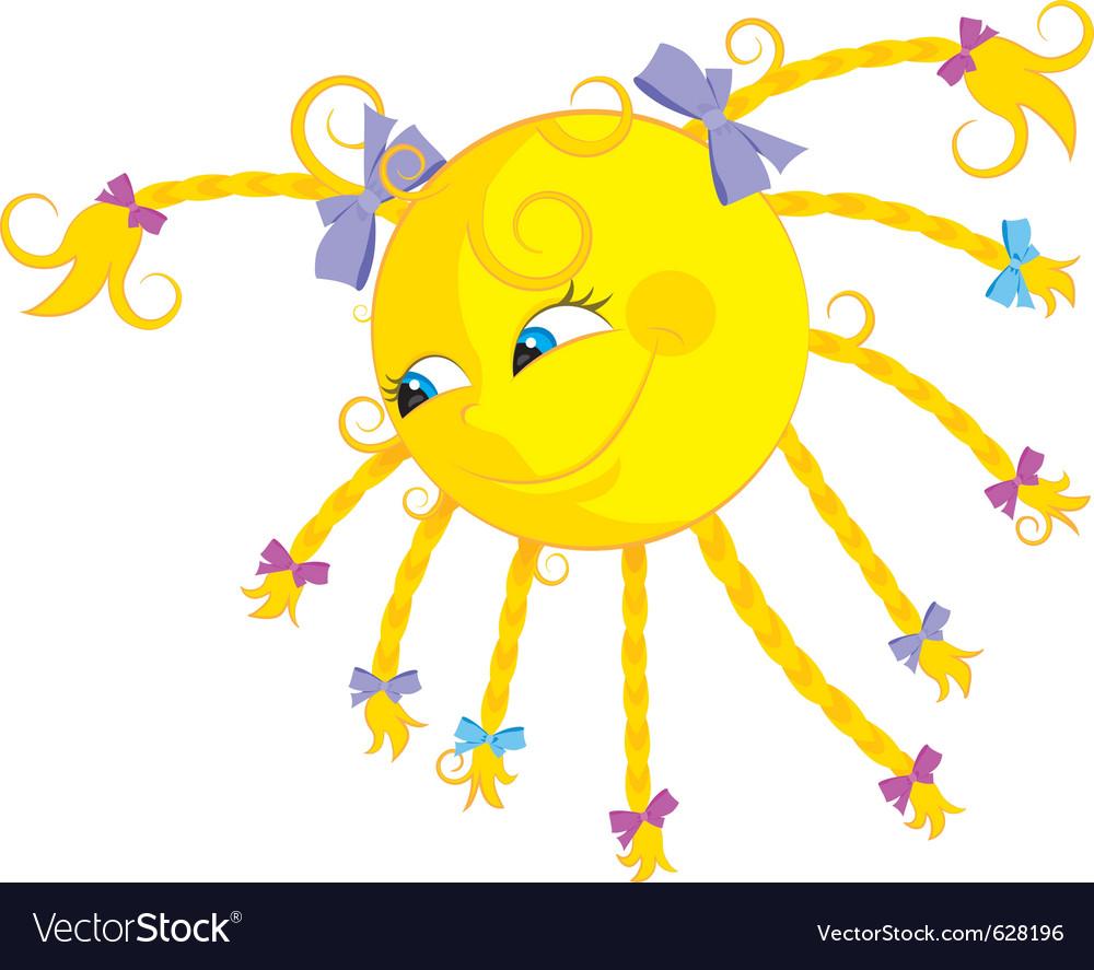 Funny cartoon sun vector image