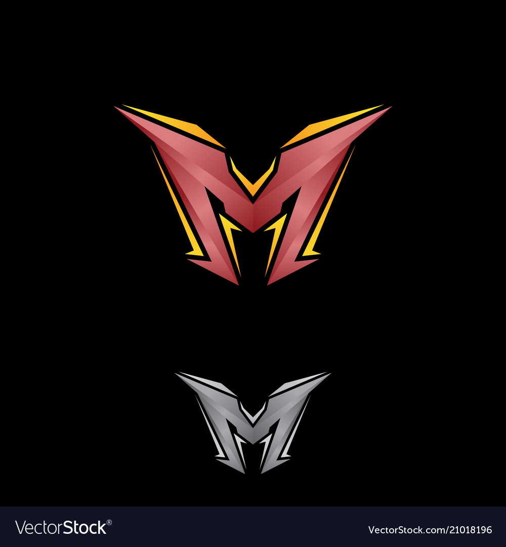 Geometric letter m