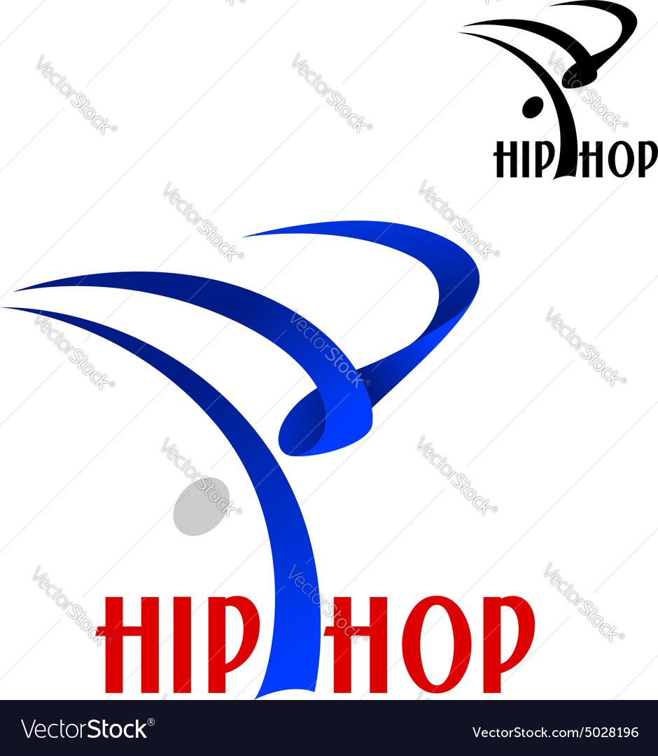 Hip hop dancer sporting emblem