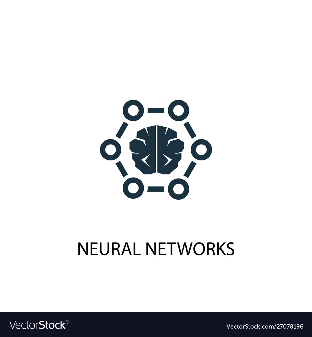 Neural networks icon simple element