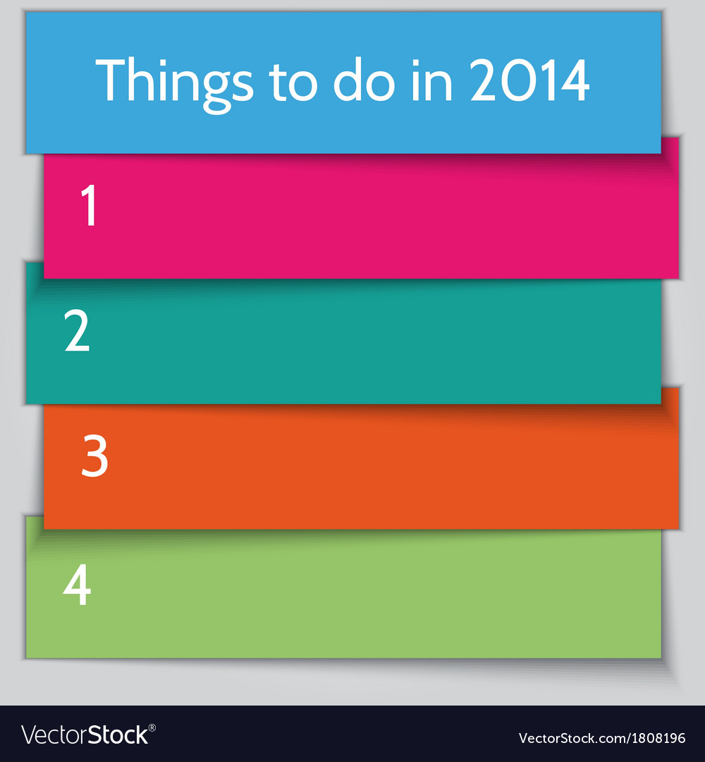 New Year Resolution List Template Royalty Free Vector Image