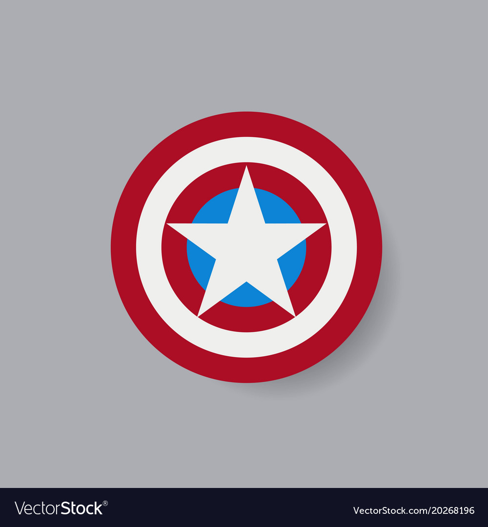 Shield with a star superhero shield