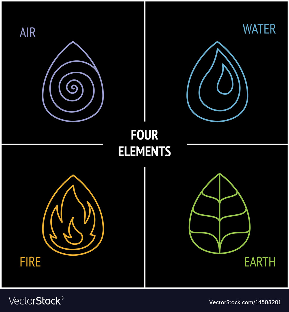 4 Elements Nature Vector Image
