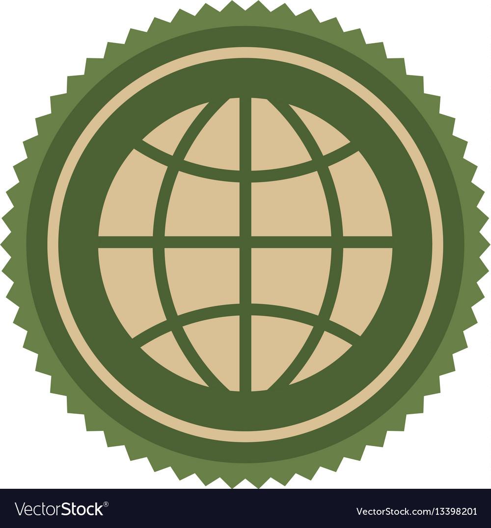 Green symbol earth planet icon
